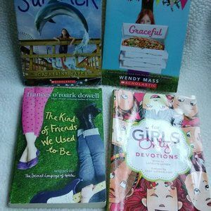 Girl books 4 different stories
